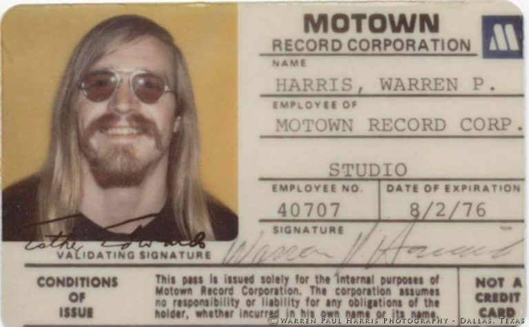 Motown Employee Card